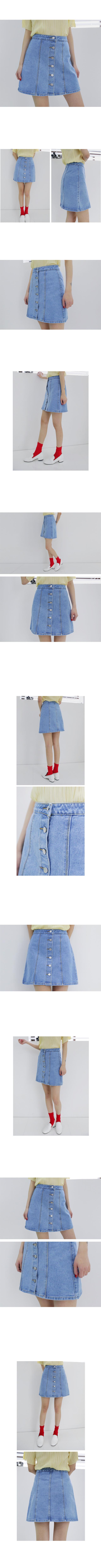 Button denim pretty skirt