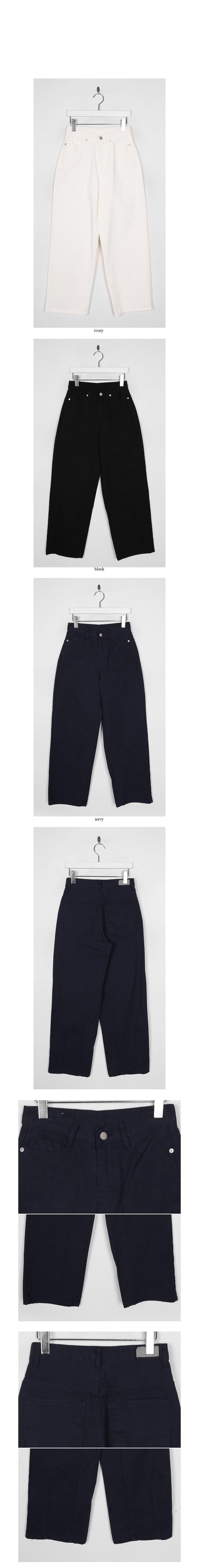 highwaist wide cotton pants