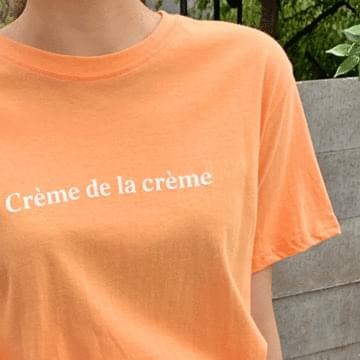 Creamy Lettering T-shirt