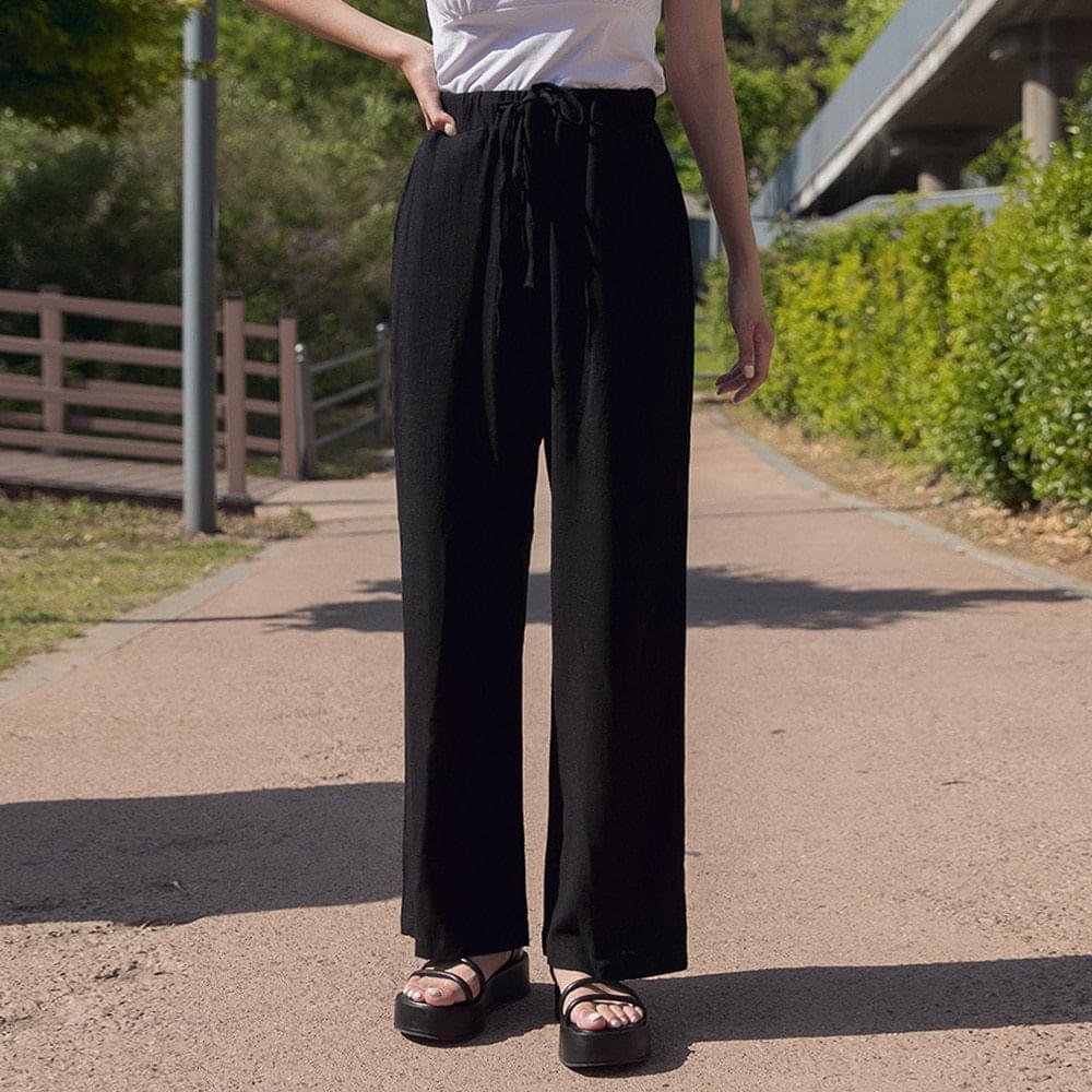 Cotton Plain Wide Bending Pants