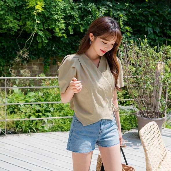 Aura denim shorts