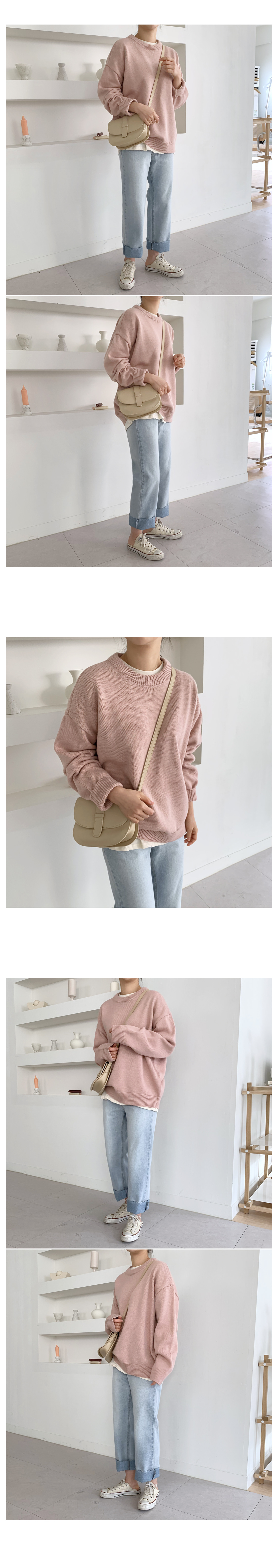 Sweet and Loose Fit Round Knit