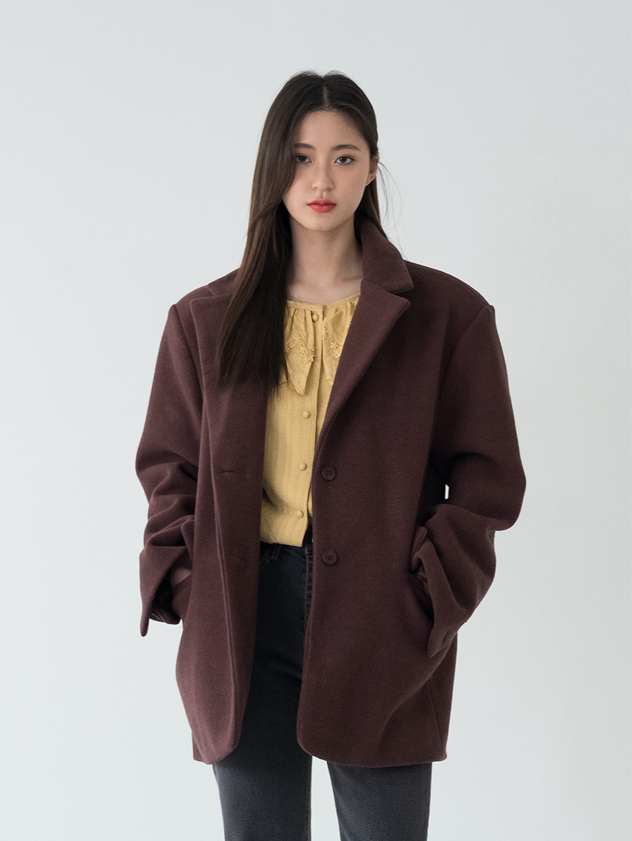 stylish over fit wool jacket