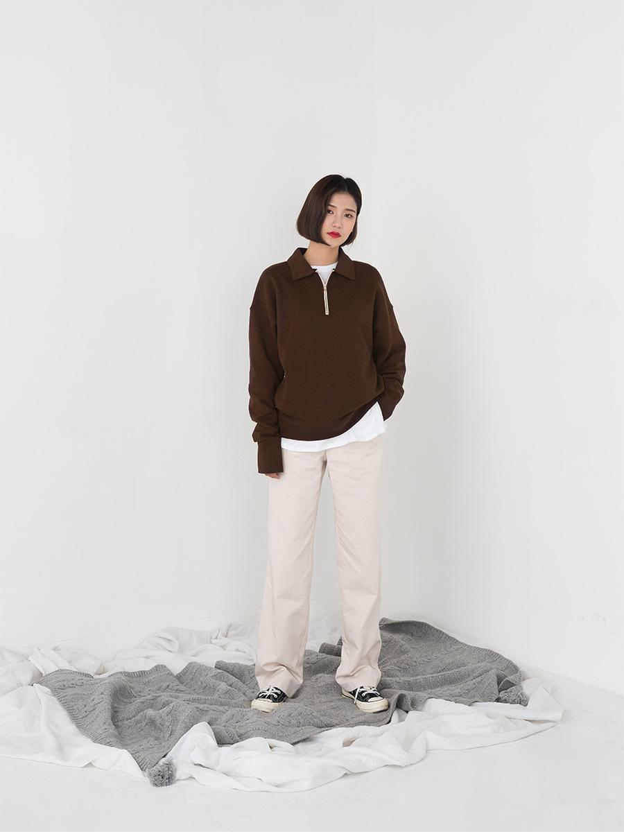 loose fit zipper point mtm