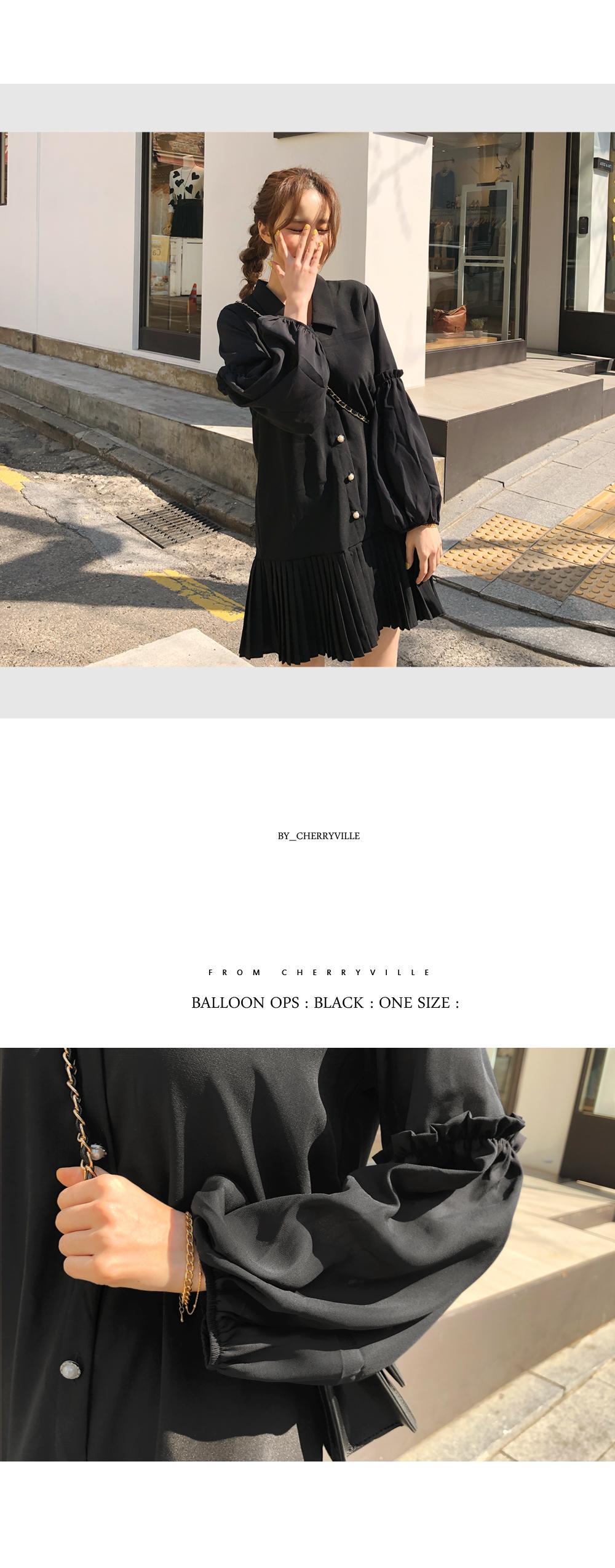 Romantic balloon sleeve dress