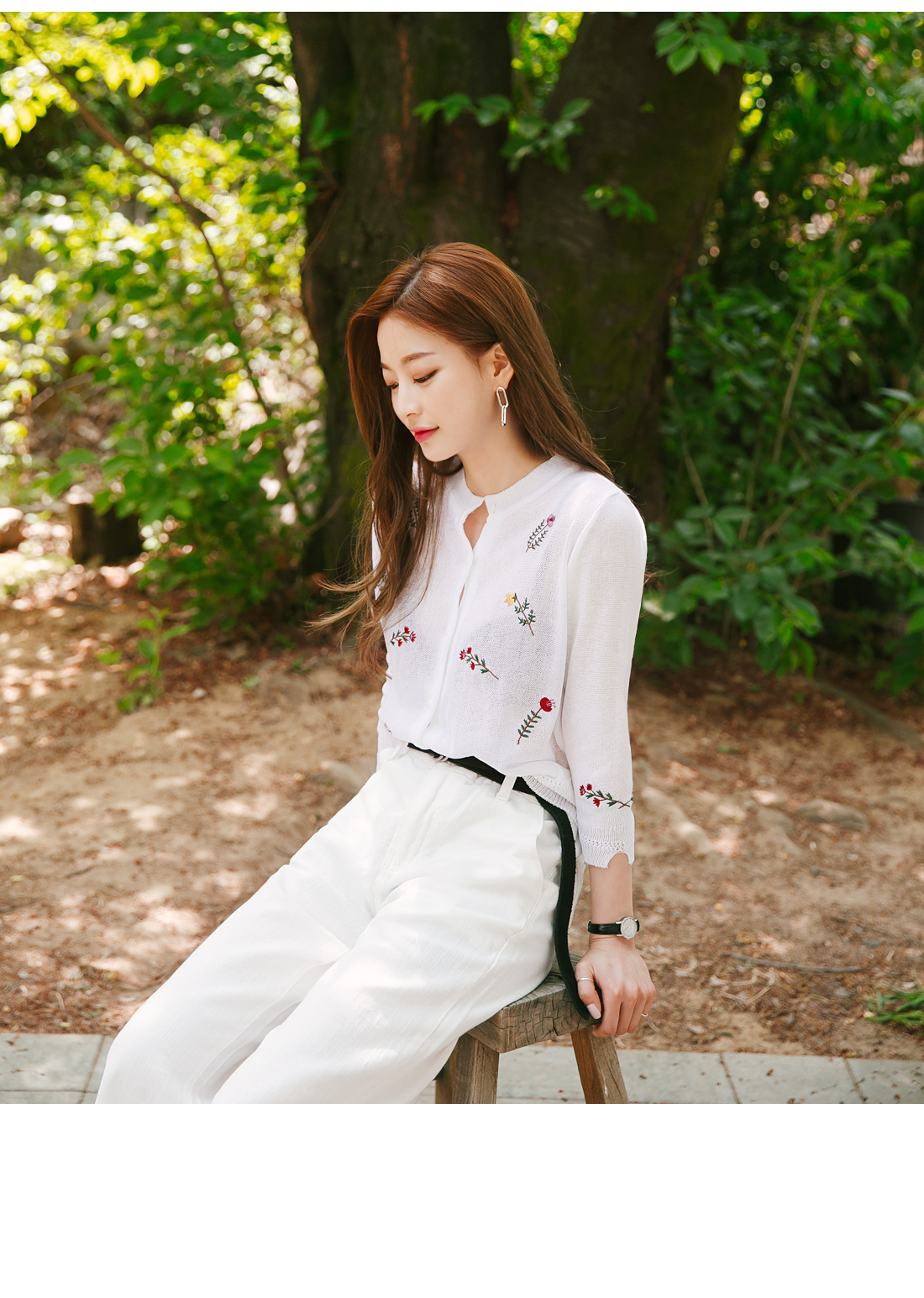COTTON WIDE CUTTING PANTS