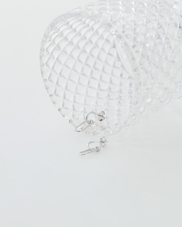 trendy silver earring