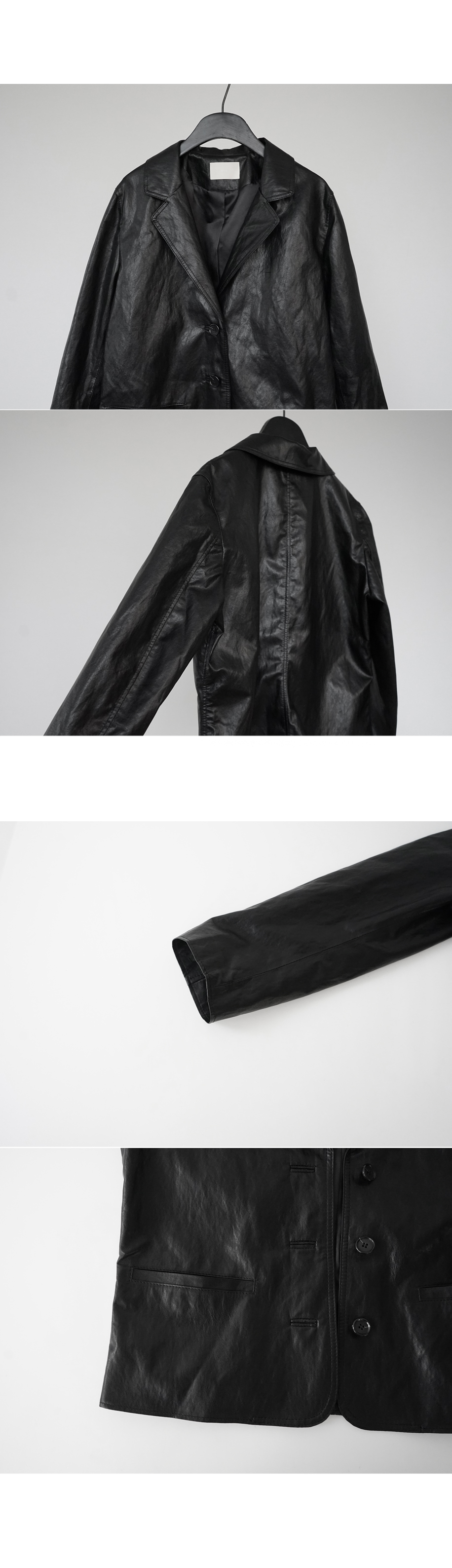 formal leather jacket (2colors)