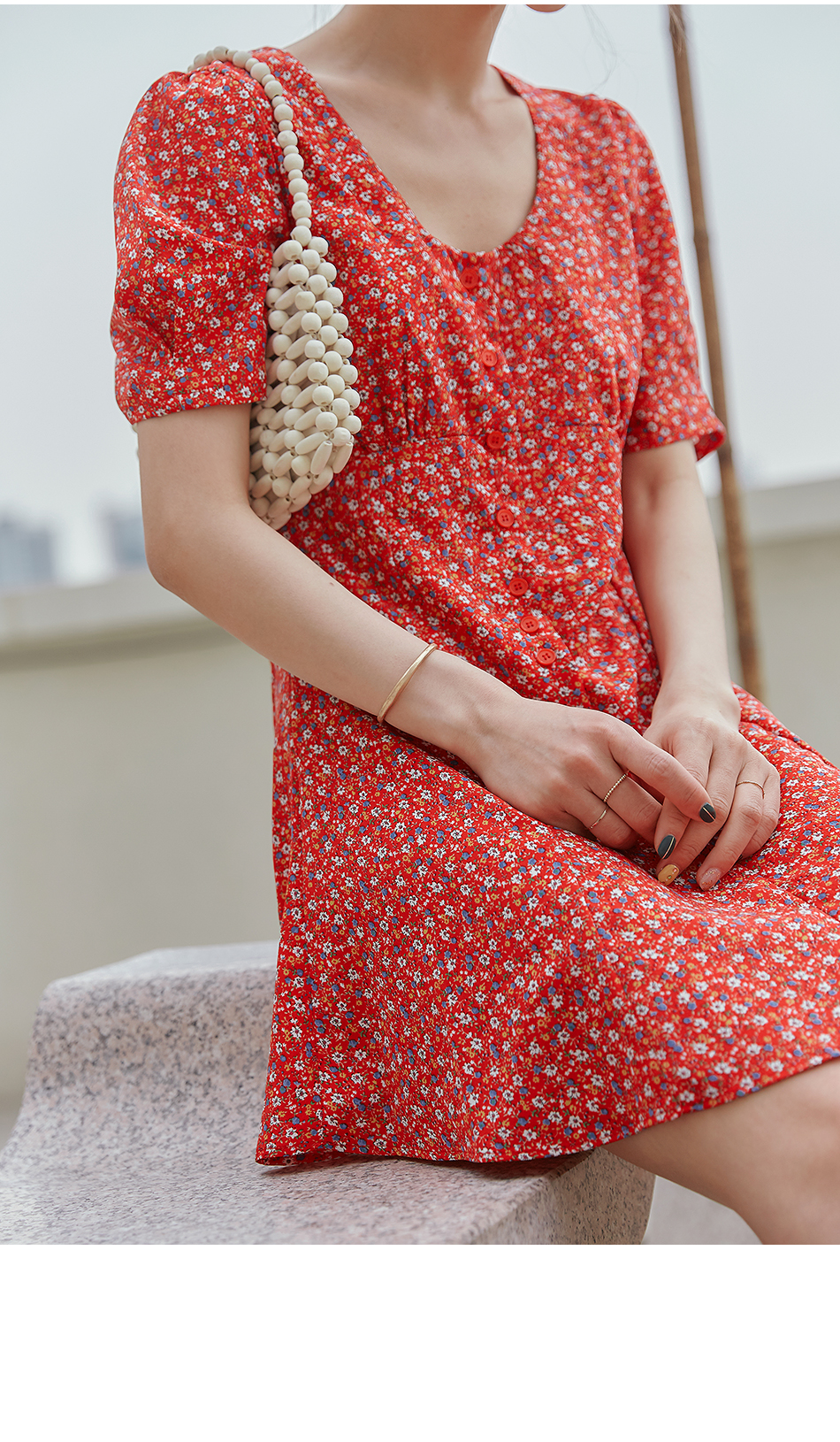 TRUDY FLOWER BUTTON MINI OPS
