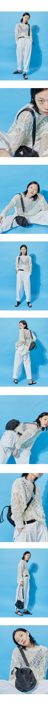 side slit net knit - woman