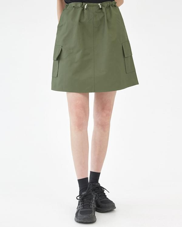 FRESH A string mini skirt
