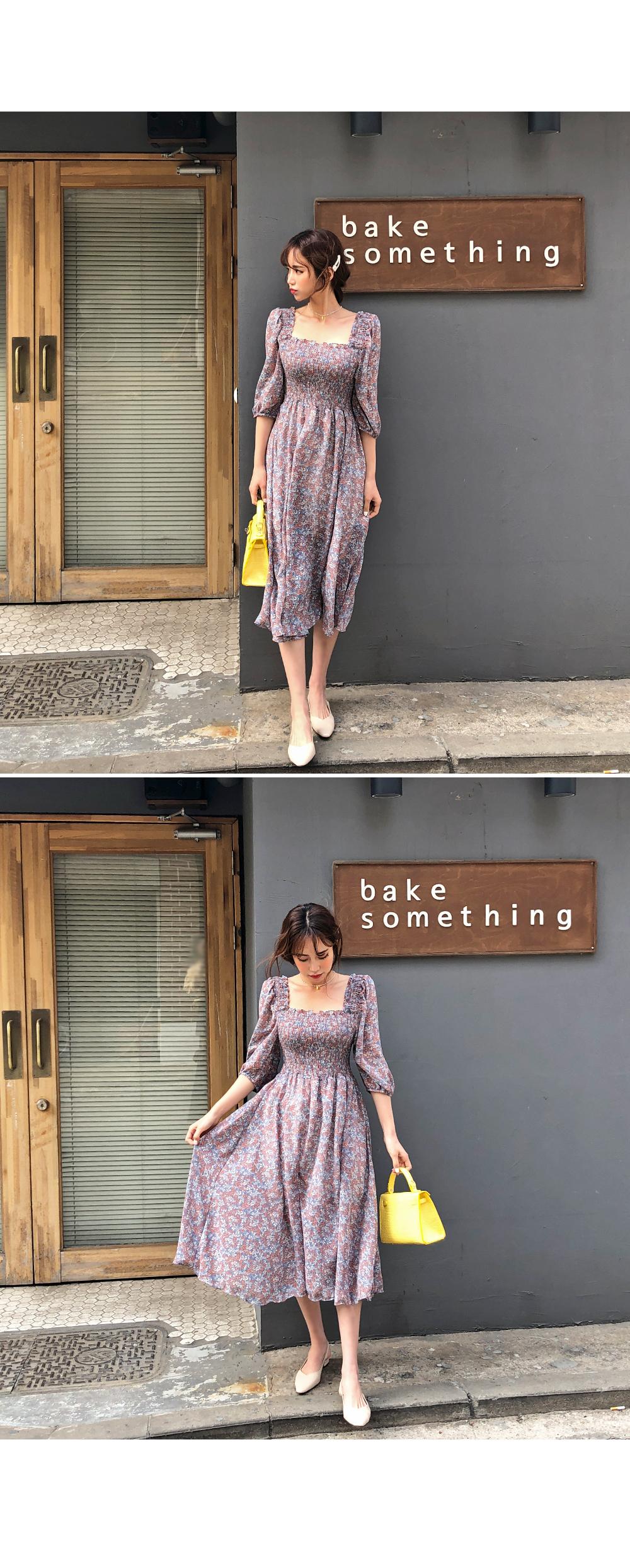 Leake Smoke Chiffon Dress