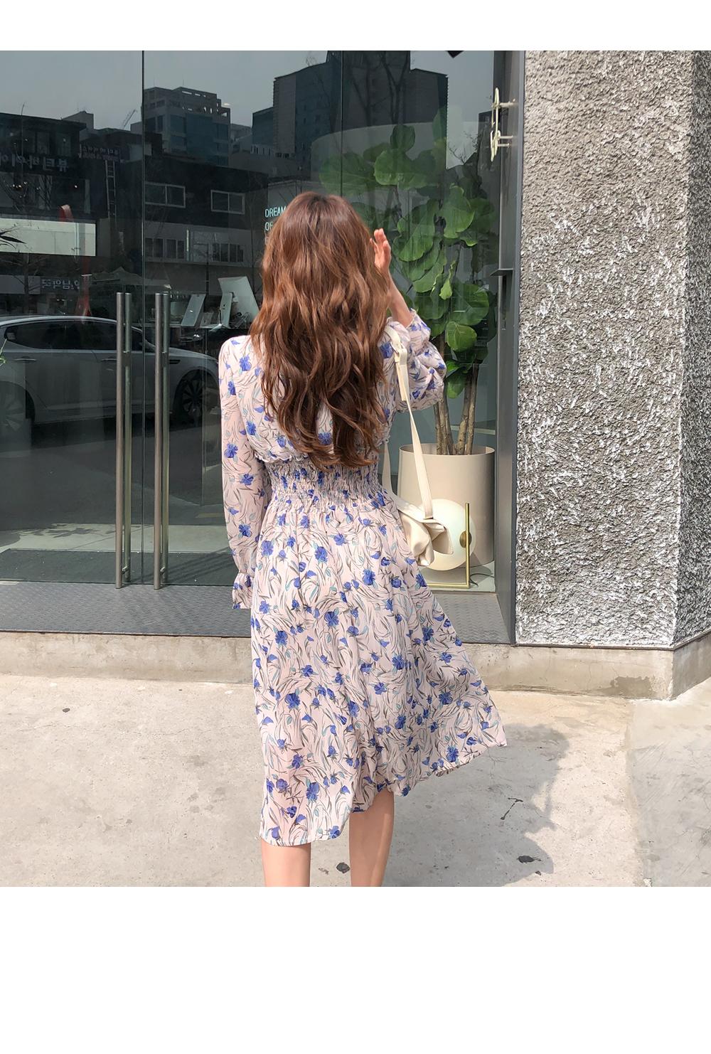 Berry Smoke Chiffon Dress