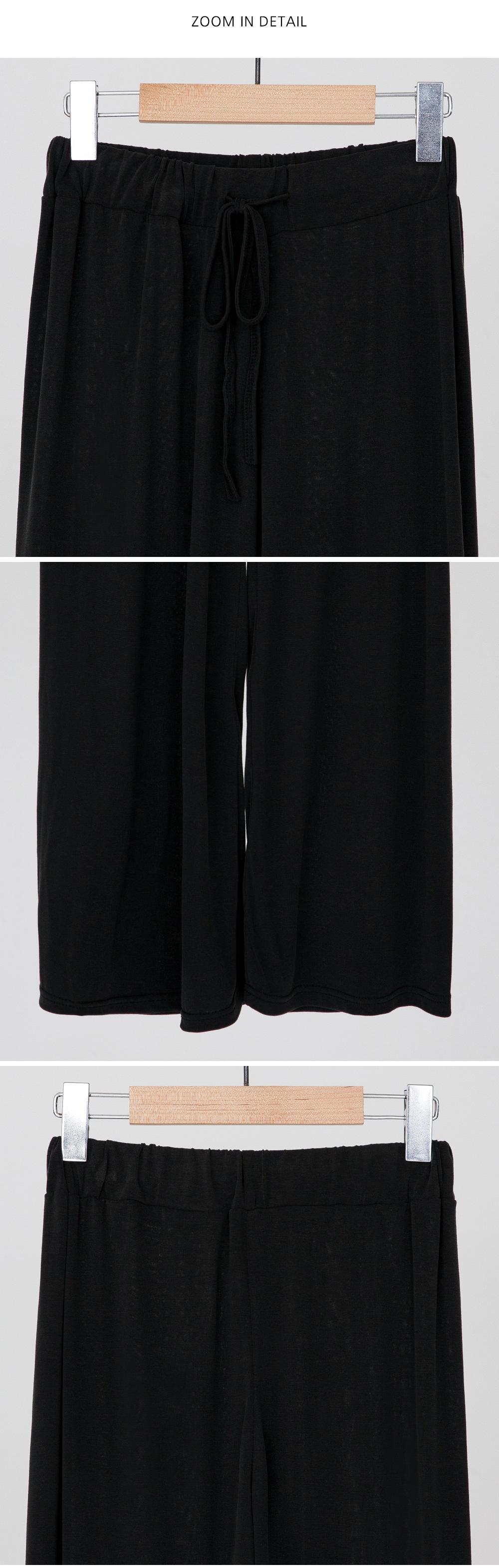 soft banding wide pants