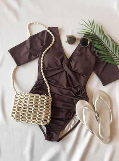 셔링 브이넥 bikini (*2color)