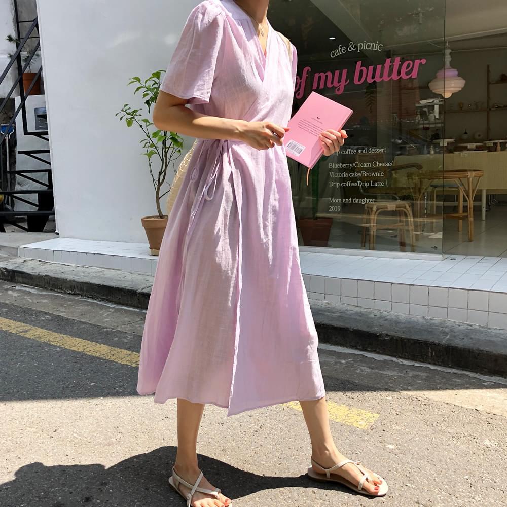 Comfortable linen long dress