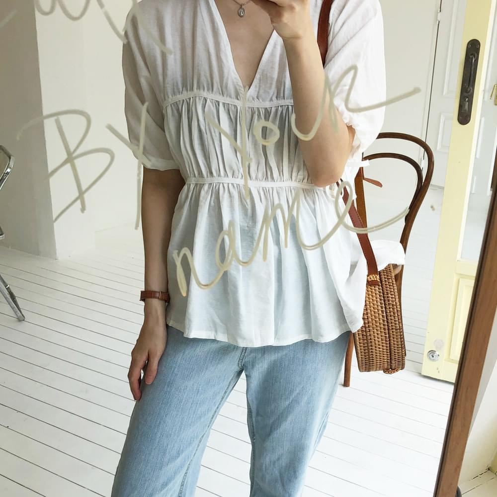 Puffy wrinkle blouse