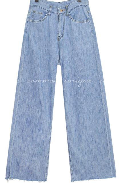 SOLR CUTTING LONG DENIM PANTS