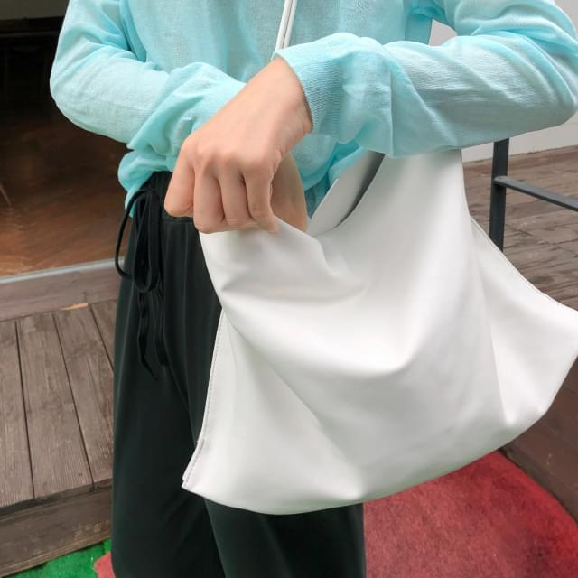 oblong knots strap bag simple square knot leather shoulder bag