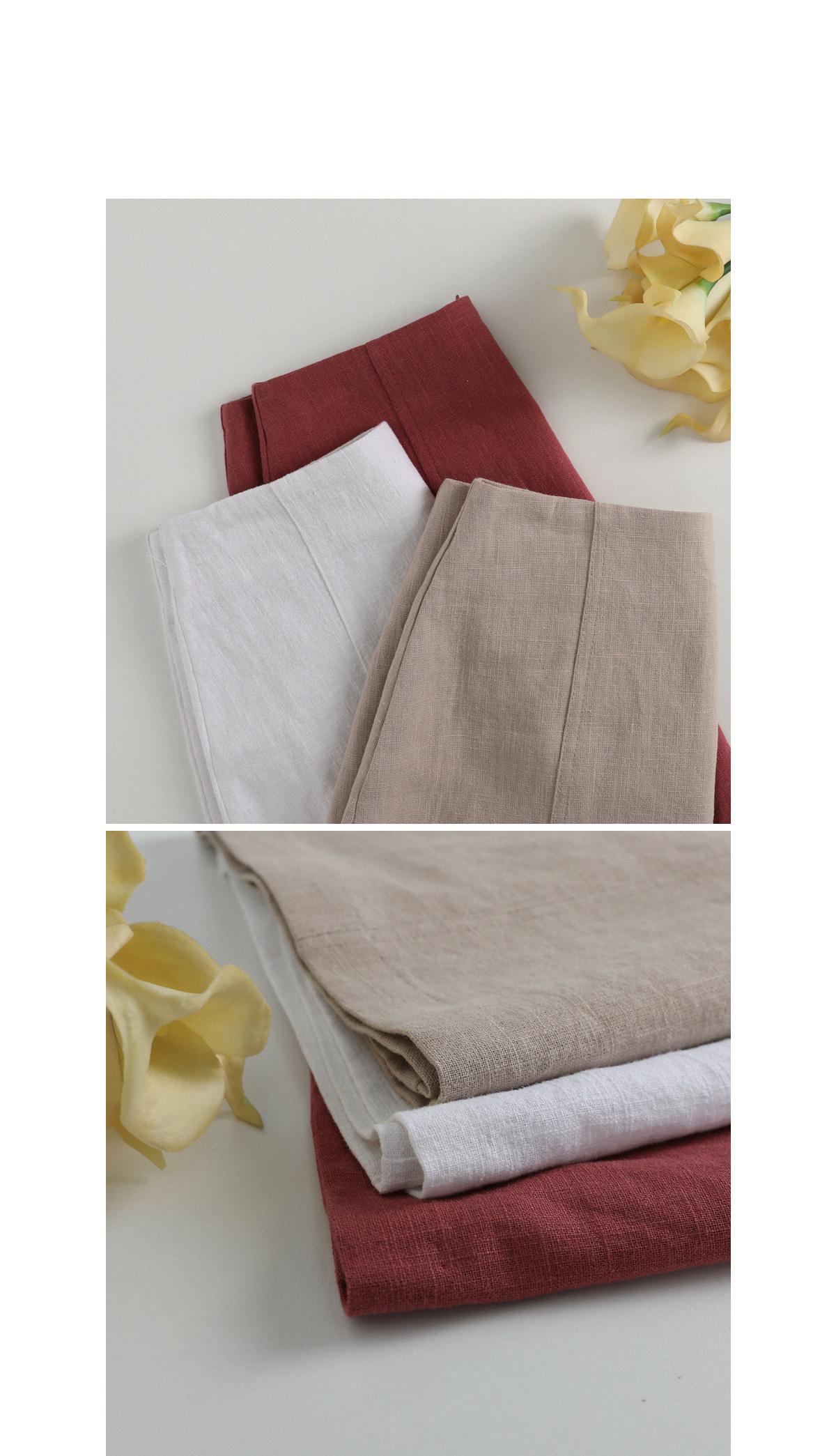 A date linen skirt