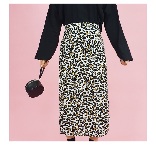 White Leopard Long Skirt