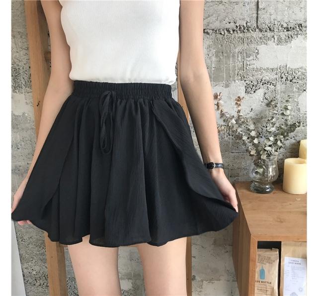 Chiffon tulip banding skirt pants