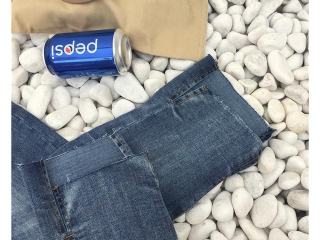 Vintage hem point denim pants