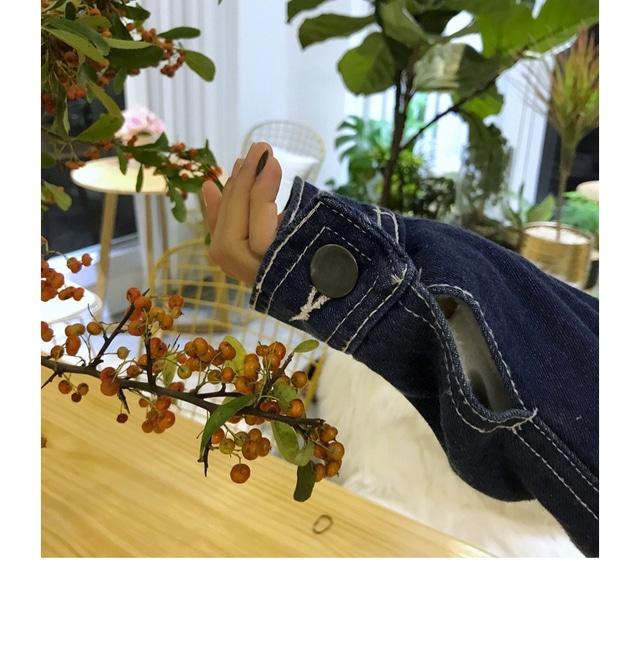 Stitch fleece denim jacket