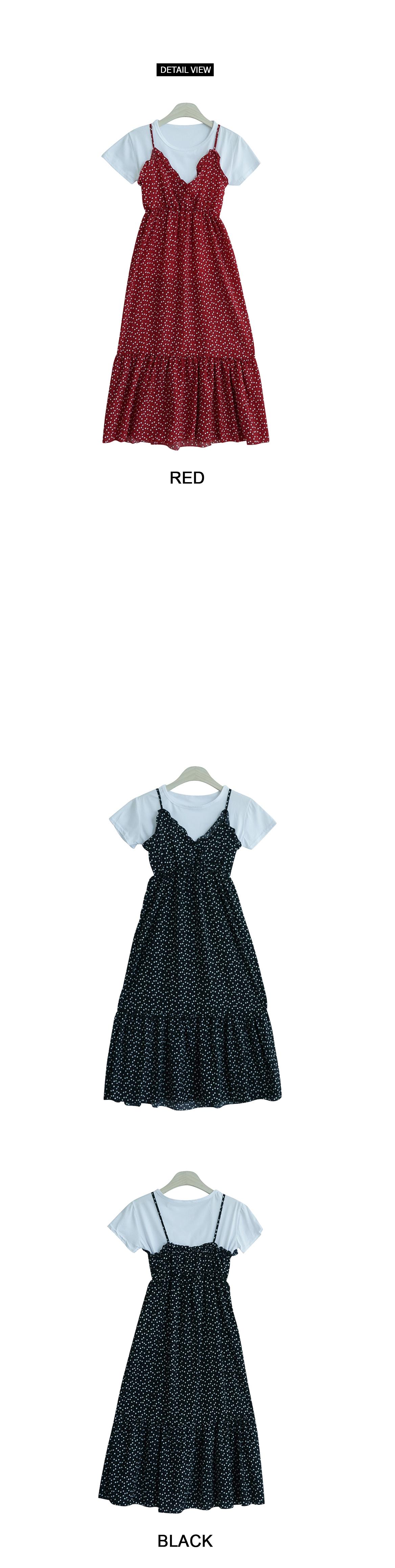 Heart wrap dress