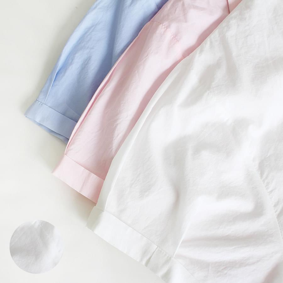 Roll-up collar shirt