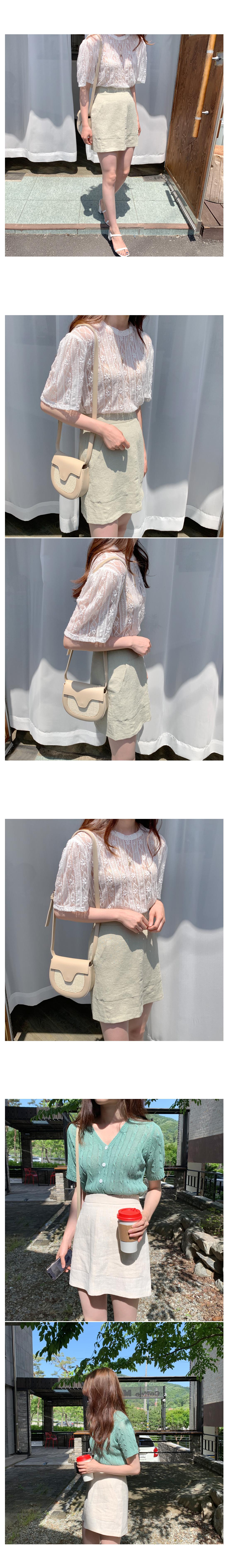 Yoplait Linen Mini Skirt-Mint M Same Day Shipping!