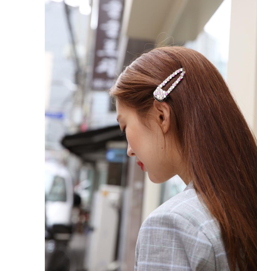 Dazzling cubic hair pin_K