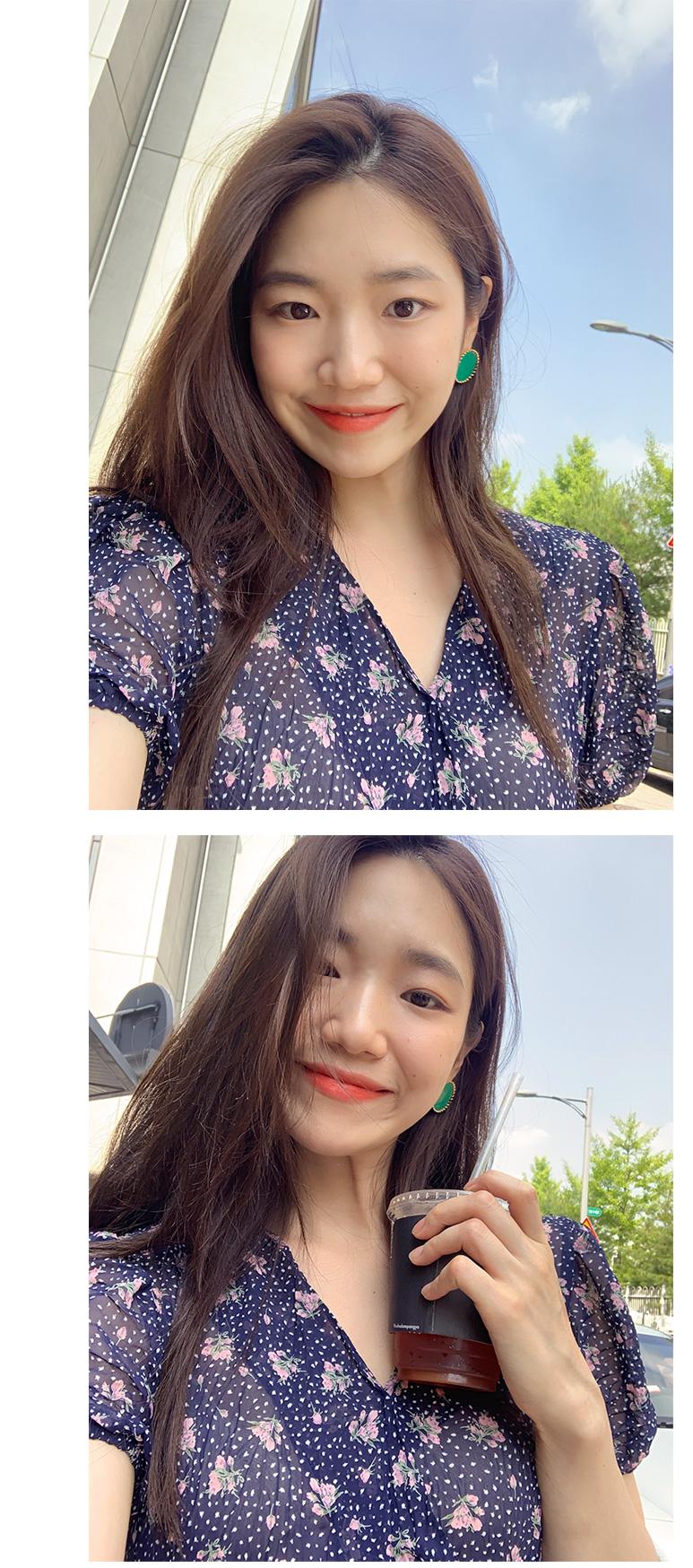 Color sun flower earring_B