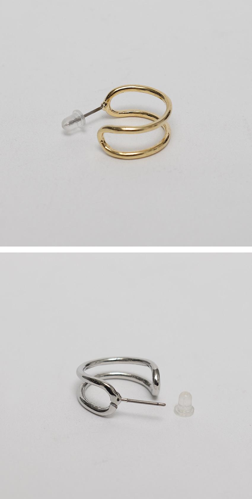 Empty double line earring_A