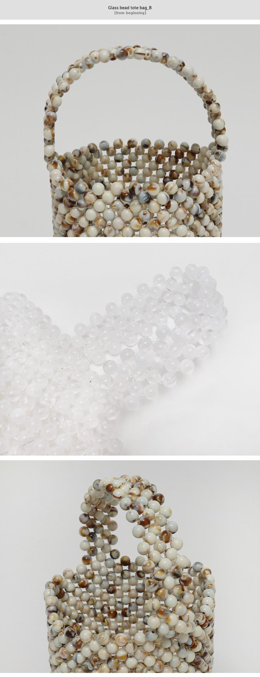 Glass bead tote bag_B