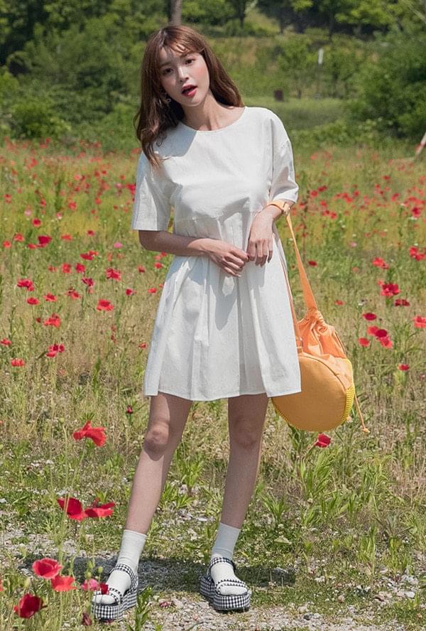 Minimal pleated dress
