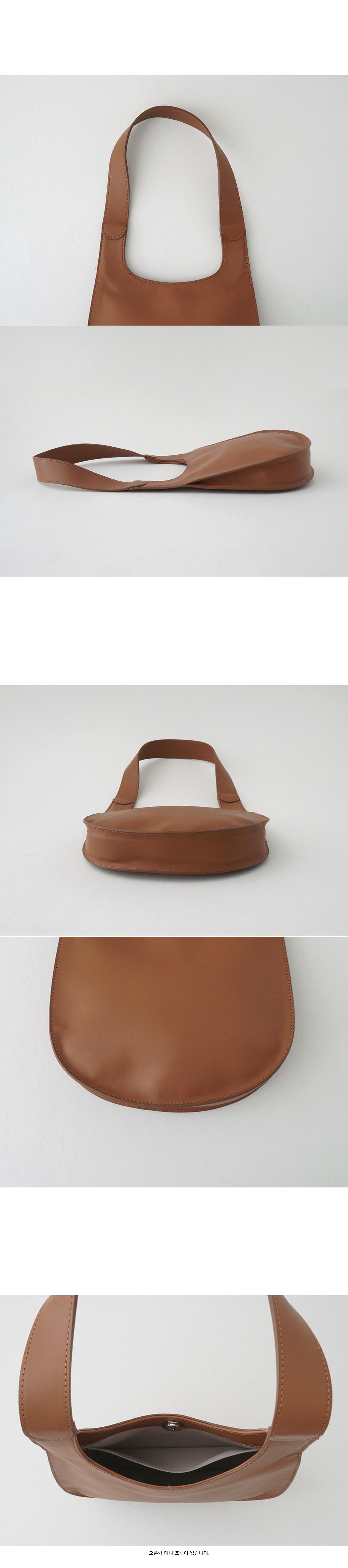 plat loop leather bag