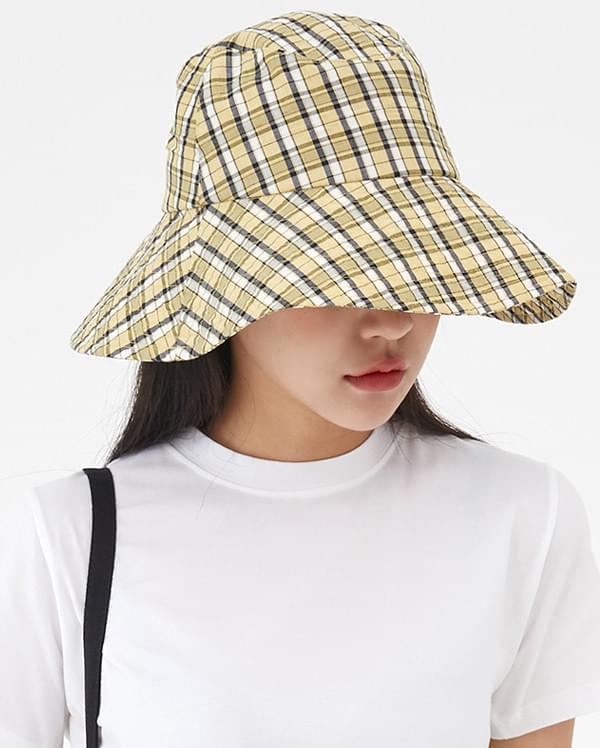 unique check bucket hat