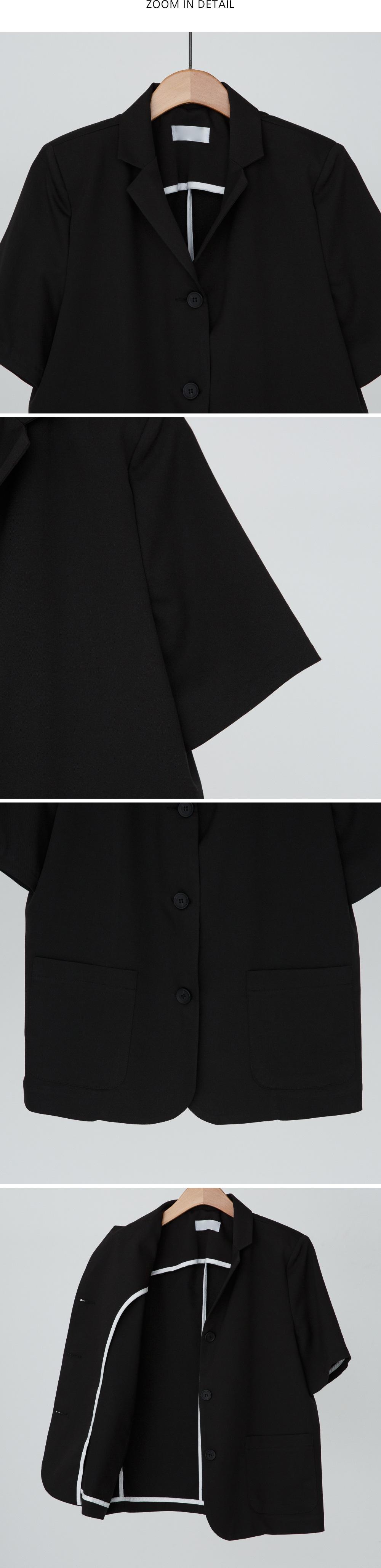 basic fit half sleeve jacket