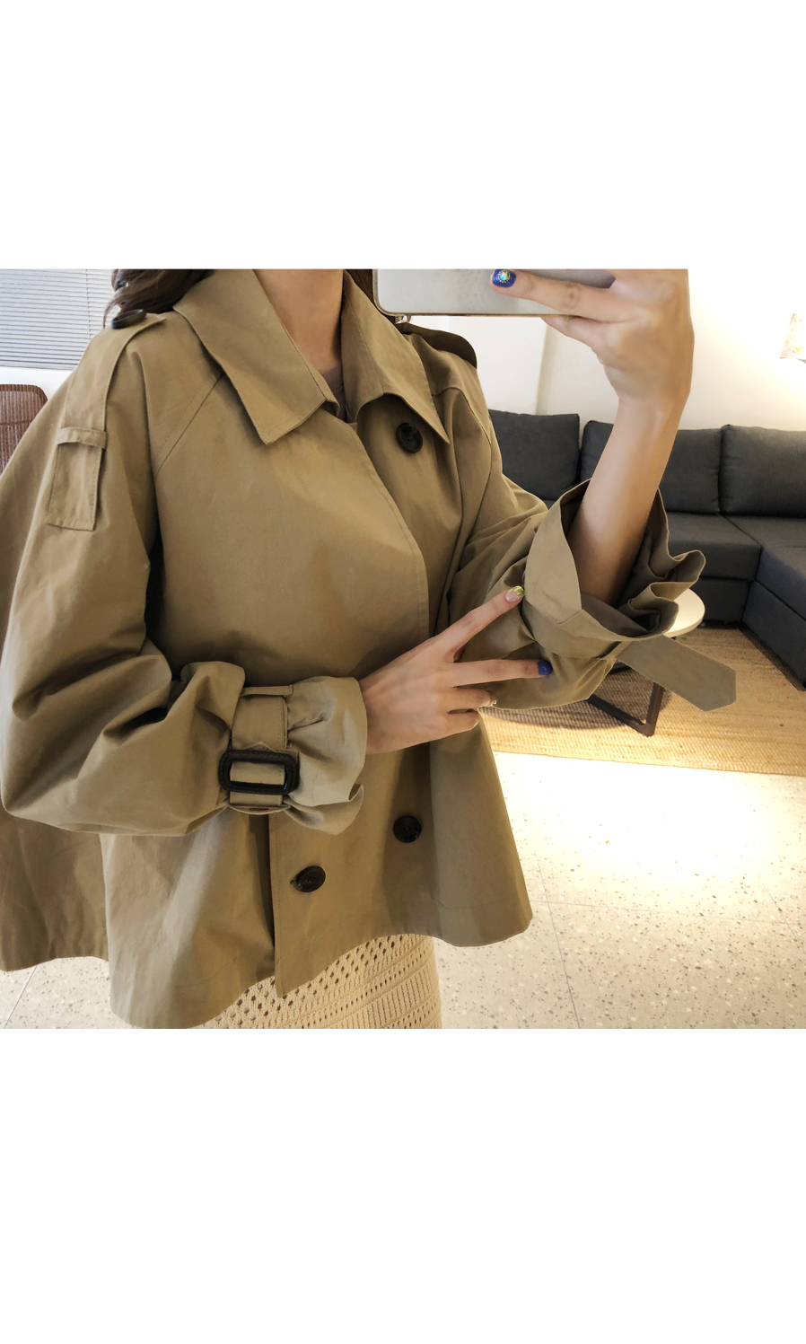 Flare Short Trench Jacket