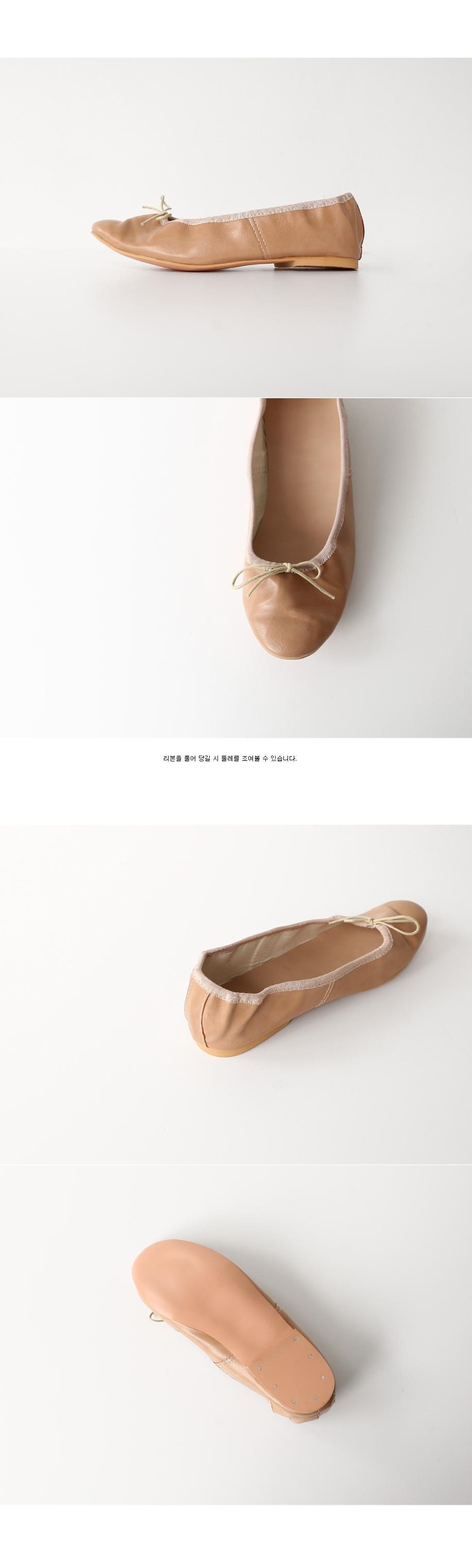 ribbon soft flat shoes (4colors)