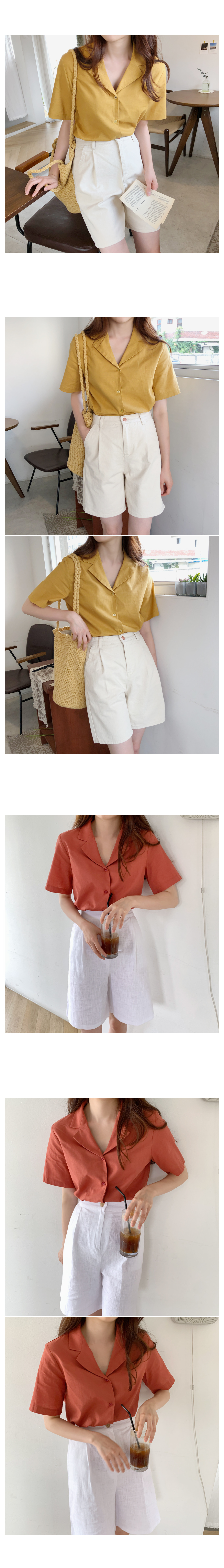 Shvy Linen Short Sleeve Shirt