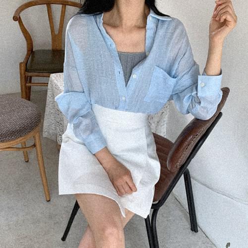 Low Herringbone Summer Shirt-Sora