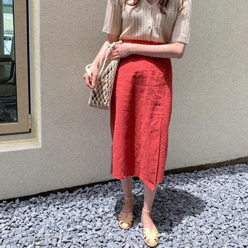 Lauren linen long skirt