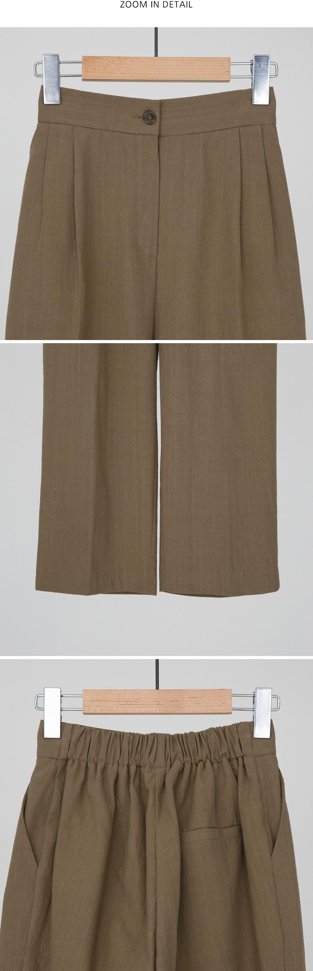 banding cotton baggy pants