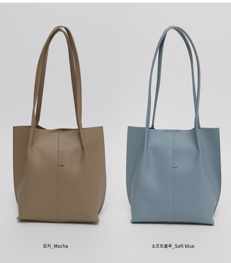 Plain line shoulder bag_N