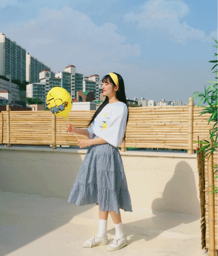 Check-able skirt