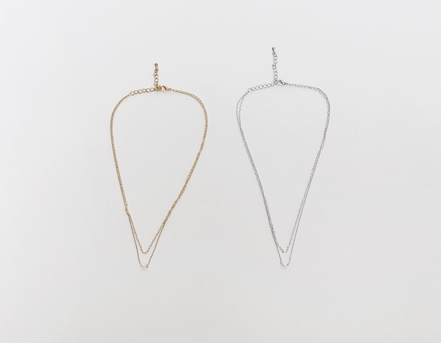 Pearl two line necklace_J