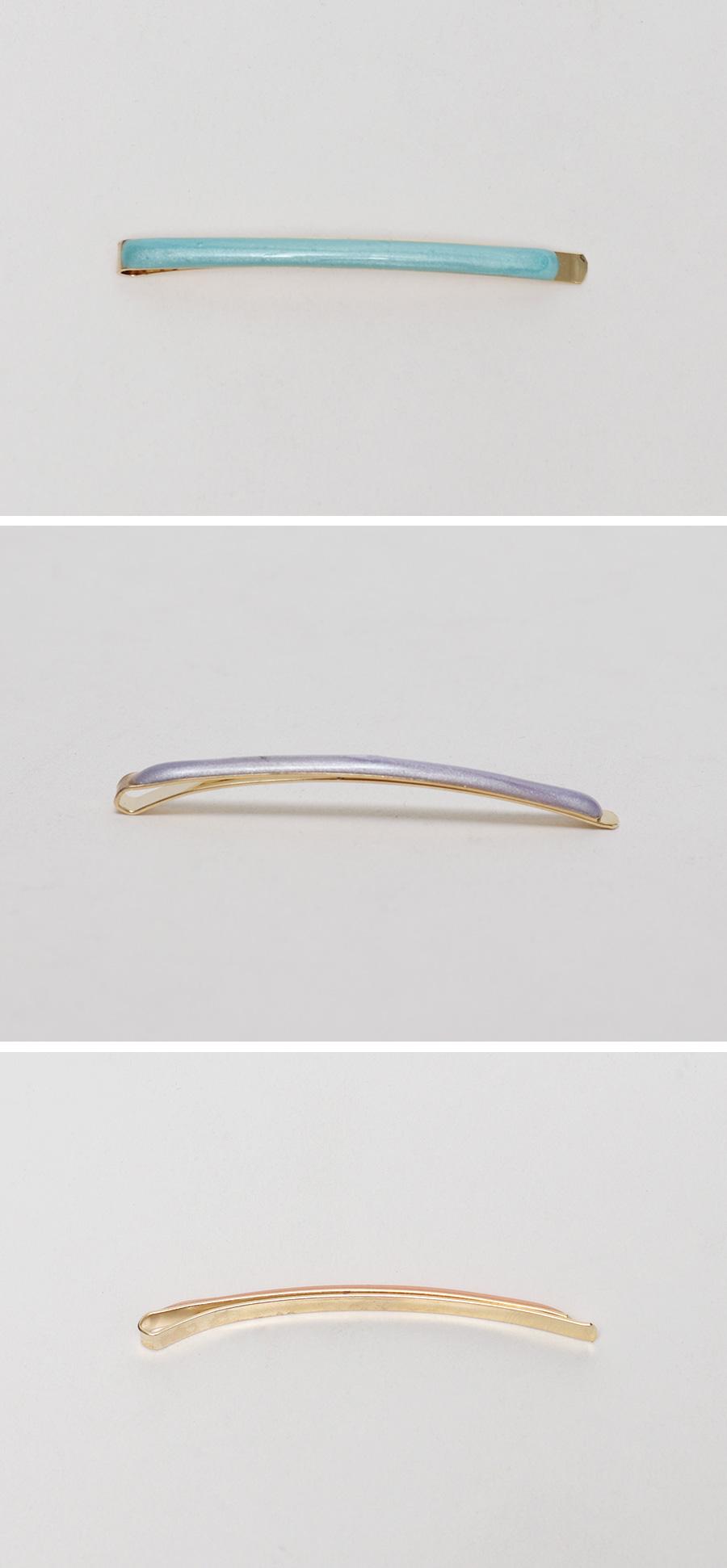 Pale color hair-pin set_J