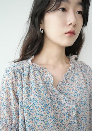 uneven white earrings